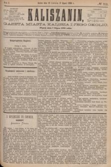 Kaliszanin : gazeta miasta Kalisza i jego okolic. R.7, № 52 (7 lipca 1876)