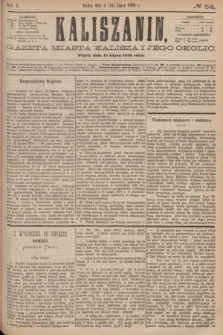 Kaliszanin : gazeta miasta Kalisza i jego okolic. R.7, № 54 (14 lipca 1876)