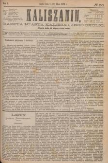 Kaliszanin : gazeta miasta Kalisza i jego okolic. R.7, № 56 (21 lipca 1876)