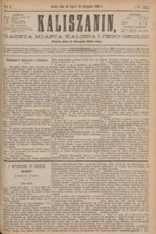 Kaliszanin : gazeta miasta Kalisza i jego okolic. R.7, № 62 (11 sierpnia 1876)