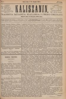 Kaliszanin : gazeta miasta Kalisza i jego okolic. R.7, № 64 (18 sierpnia 1876)