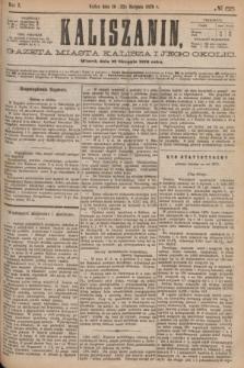 Kaliszanin : gazeta miasta Kalisza i jego okolic. R.7, № 65 (22 sierpnia 1876)