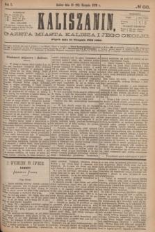 Kaliszanin : gazeta miasta Kalisza i jego okolic. R.7, № 66 (25 sierpnia 1876)