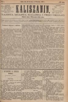Kaliszanin : gazeta miasta Kalisza i jego okolic. R.7, № 68 (1 września 1876)