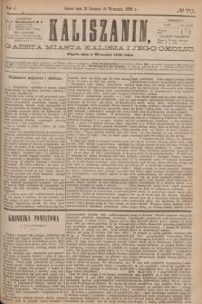 Kaliszanin : gazeta miasta Kalisza i jego okolic. R.7, № 70 (8 września 1876)
