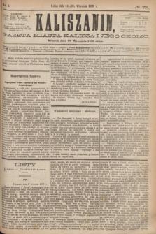 Kaliszanin : gazeta miasta Kalisza i jego okolic. R.7, № 75 (26 września 1876)