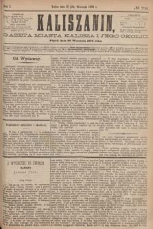 Kaliszanin : gazeta miasta Kalisza i jego okolic. R.7, № 76 (29 września 1876)
