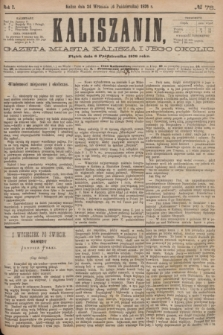 Kaliszanin : gazeta miasta Kalisza i jego okolic. R.7, № 78 (6 października 1876)