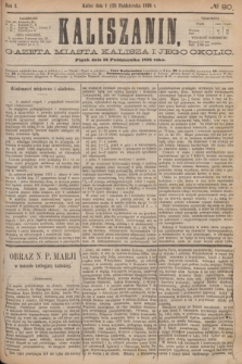 Kaliszanin : gazeta miasta Kalisza i jego okolic. R.7, № 80 (13 października 1876)