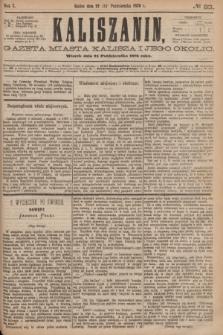 Kaliszanin : gazeta miasta Kalisza i jego okolic. R.7, № 83 (24 października 1876)