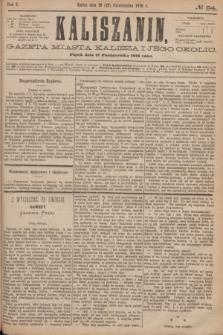 Kaliszanin : gazeta miasta Kalisza i jego okolic. R.7, № 84 (27 października 1876)
