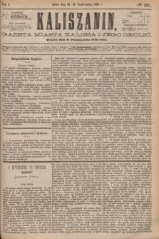 Kaliszanin : gazeta miasta Kalisza i jego okolic. R.7, № 85 (31 października 1876)