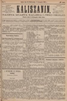 Kaliszanin : gazeta miasta Kalisza i jego okolic. R.7, № 86 (3 listopada 1876)