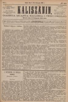 Kaliszanin : gazeta miasta Kalisza i jego okolic. R.7, № 89 (14 listopada 1876)