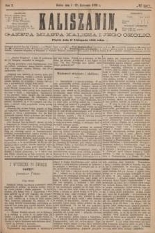 Kaliszanin : gazeta miasta Kalisza i jego okolic. R.7, № 90 (17 listopada 1876)