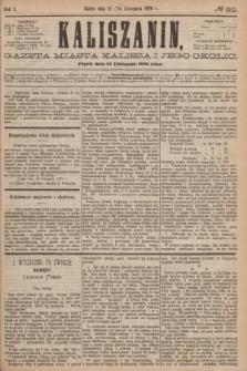 Kaliszanin : gazeta miasta Kalisza i jego okolic. R.7, № 92 (24 listopada 1876)