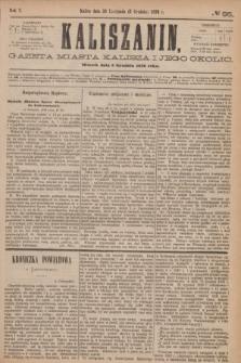 Kaliszanin : gazeta miasta Kalisza i jego okolic. R.7, № 95 (5 grudnia 1876)