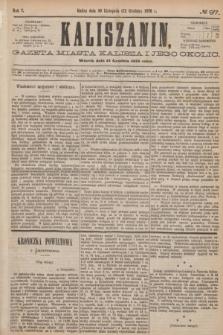 Kaliszanin : gazeta miasta Kalisza i jego okolic. R.7, № 97 (12 grudnia 1876)