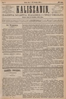 Kaliszanin : gazeta miasta Kalisza i jego okolic. R.7, № 98 (15 grudnia 1876)