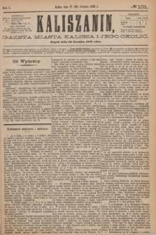 Kaliszanin : gazeta miasta Kalisza i jego okolic. R.7, № 101 (29 grudnia 1876)