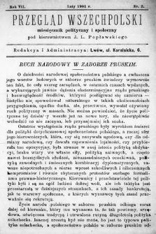Przegląd Wszechpolski : miesięcznik polityczny ispołeczny. 1901, nr2