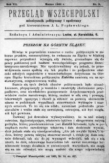 Przegląd Wszechpolski : miesięcznik polityczny ispołeczny. 1901, nr3