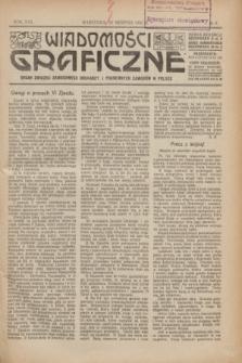 Wiadomości Graficzne : organ związku zawodowego drukarzy i pokrewnych zawodów w Polsce. R.17 [i.e.16], № 9 (20 sierpnia 1924)