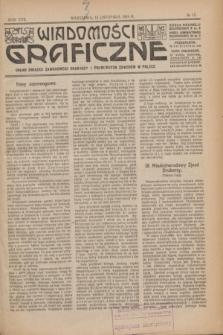 Wiadomości Graficzne : organ związku zawodowego drukarzy i pokrewnych zawodów w Polsce. R.17 [i.e.16], № 15 (15 listopada 1924)