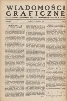 Wiadomości Graficzne : organ związku zawodowego drukarzy i pokrewnych zawodów w Polsce. R.22 [i.e. 21], nr 23 (1 grudnia 1929)