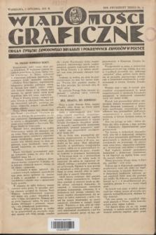 Wiadomości Graficzne : organ związku zawodowego drukarzy i pokrewnych zawodów w Polsce. R.23, nr 1 (5 stycznia 1931)