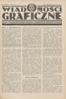 Wiadomości Graficzne : organ związku zawodowego drukarzy i pokrewnych zawodów w Polsce. R.23, nr 10 (5 kwietnia 1931)