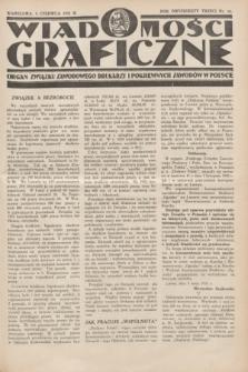 Wiadomości Graficzne : organ związku zawodowego drukarzy i pokrewnych zawodów w Polsce. R.23, nr 16 (5 czerwca 1931)