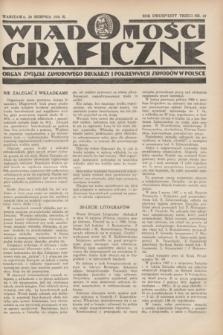 Wiadomości Graficzne : organ związku zawodowego drukarzy i pokrewnych zawodów w Polsce. R.23, nr 22 (20 sierpnia 1931)