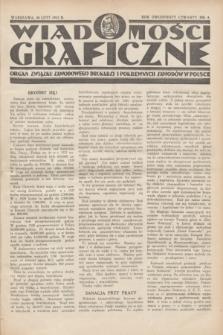 Wiadomości Graficzne : organ związku zawodowego drukarzy i pokrewnych zawodów w Polsce. R.24, nr 4 (20 luty 1932)