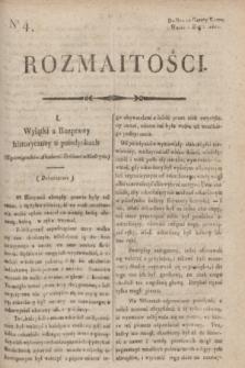Rozmaitości : do nru 10 Gazety Korresp. Warsz. i Zagr. 1820, nr 4