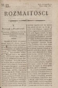 Rozmaitości : do nru 34 Gazety Korresp. Warsz. i Zagr. 1820, Ner 13