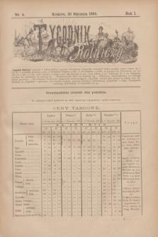 Tygodnik Rolniczy. R.1, nr 4 (20 stycznia 1884)