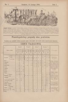 Tygodnik Rolniczy. R.1, nr 7 (10 lutego 1884)