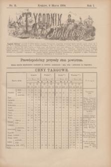 Tygodnik Rolniczy. R.1, nr 11 (8 marca 1884)
