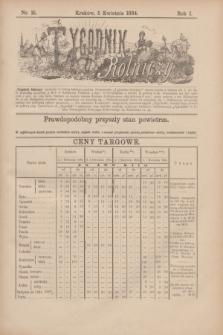 Tygodnik Rolniczy. R.1, nr 15 (5 kwietnia 1884)