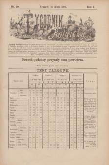 Tygodnik Rolniczy. R.1, nr 20 (10 maja 1884)