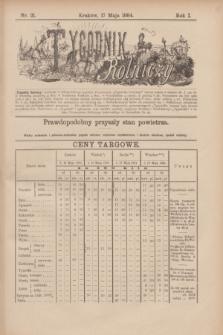 Tygodnik Rolniczy. R.1, nr 21 (17 maja 1884)