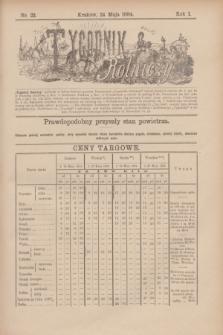 Tygodnik Rolniczy. R.1, nr 22 (24 maja 1884)