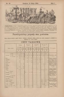 Tygodnik Rolniczy. R.1, nr 23 (31 maja 1884)