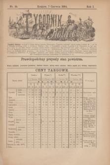 Tygodnik Rolniczy. R.1, nr 24 (7 czerwca 1884)
