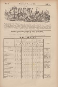 Tygodnik Rolniczy. R.1, nr 25 (14 czerwca 1884)