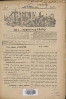Tygodnik Rolniczy : Organ c. k. Towarzystwa rolniczego Krakowskiego. R.2, nr 1 (3 stycznia 1885)