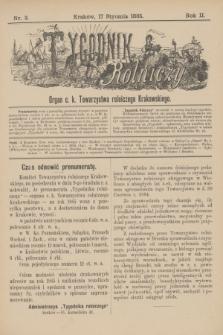 Tygodnik Rolniczy : Organ c. k. Towarzystwa rolniczego Krakowskiego. R.2, nr 3 (17 stycznia 1885) + dod.