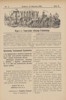 Tygodnik Rolniczy : Organ c. k. Towarzystwa rolniczego Krakowskiego. R.2, nr 4 (24 stycznia 1885)