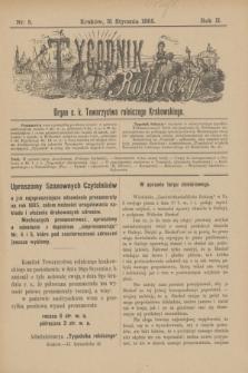 Tygodnik Rolniczy : Organ c. k. Towarzystwa rolniczego Krakowskiego. R.2, nr 5 (31 stycznia 1885)